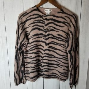 Mendocino Angora Cheetah Print Sweater